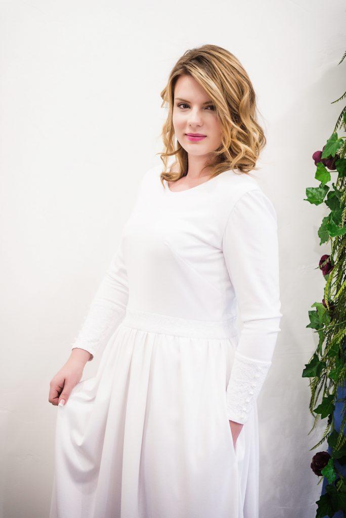LDS Temple Wedding Dresses-Caroline- Rachel Elizabeth Bridal and Prom