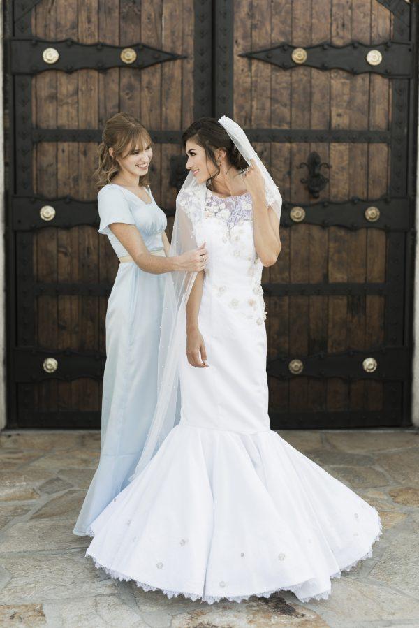 Puddle Length Veil - Leah - Rachel Elizabeth Desinger Bridal Gowns