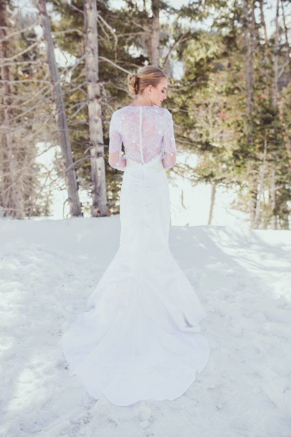 Lace Sleeved Wedding Gown - Mariah - Rachel Elizabeth Desinger ...