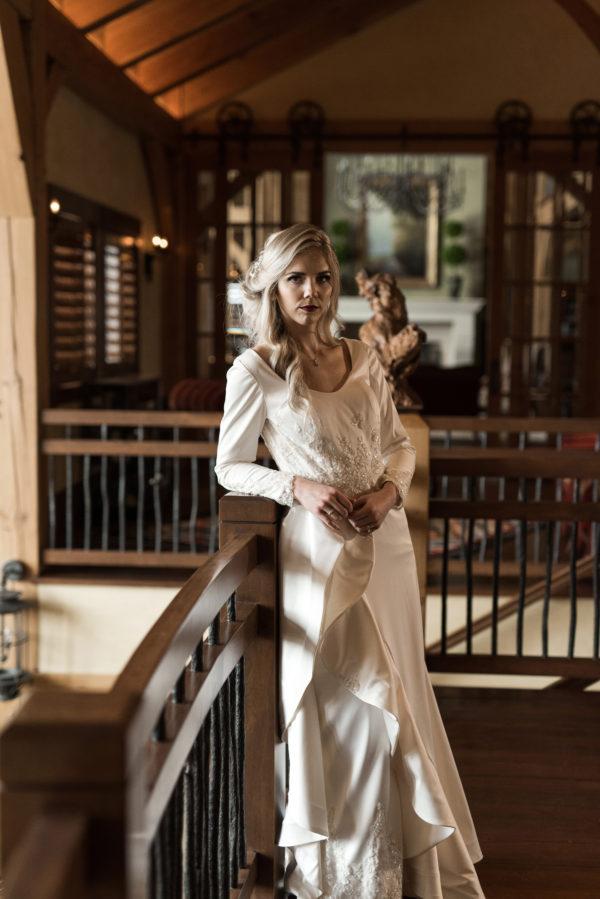 Ruffled Asymetric Skirt - Emma - Rachel Elizabeth Desinger Bridal Gowns
