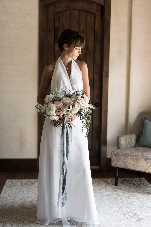 Halter Wedding Dress - Blythe - Rachel Elizabeth Deisnger Bridal Gowns