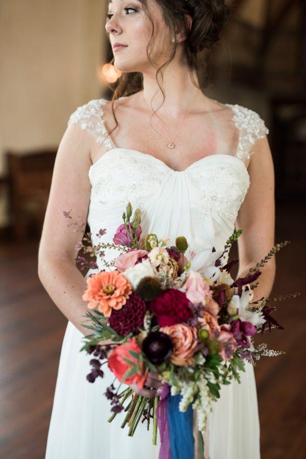 A Draped Wedding Gown- Analia - Rachel Elizabeth Desinger Bridal Gowns