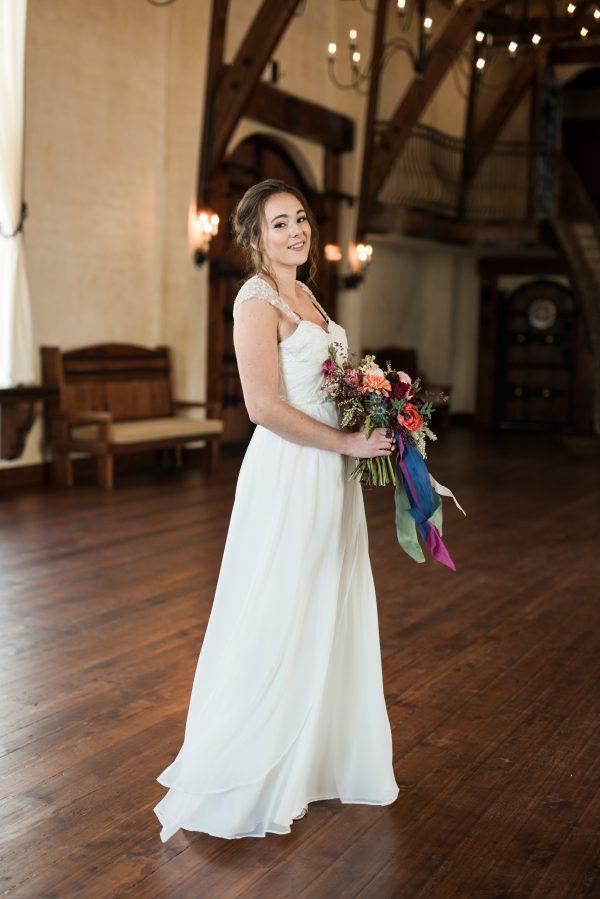 A Draped Wedding Gown- Analia - Rachel Elizabeth Deisnger Bridal Gowns