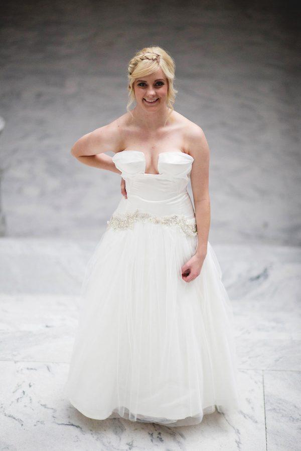 Dropped Waist Tulle - Fiona - Rachel Elizabeth Desinger Bridal Gowns