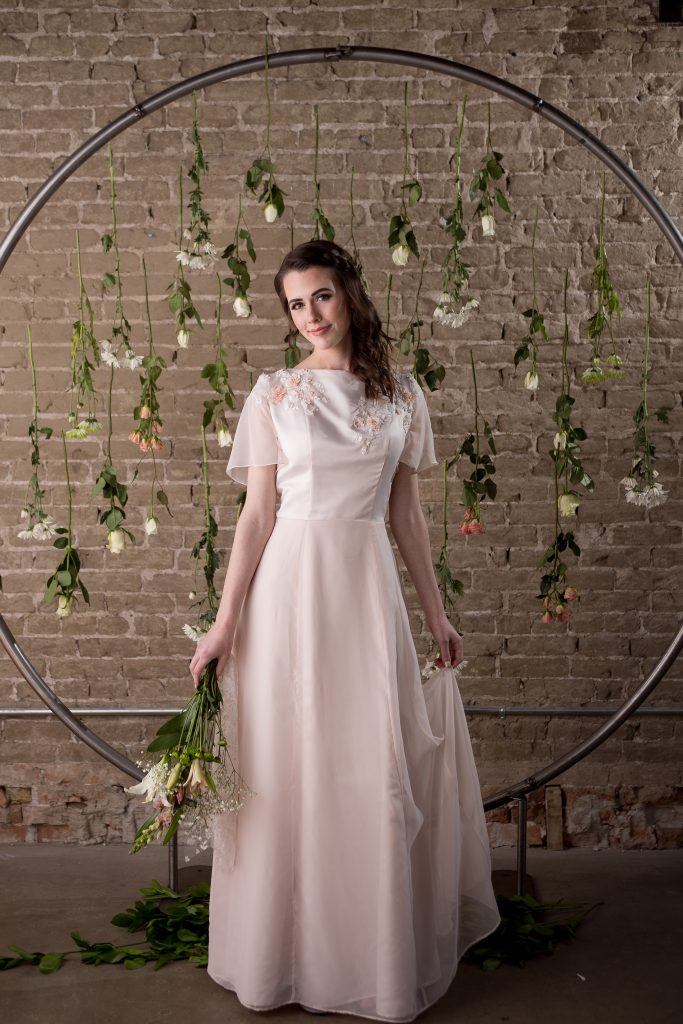 Pink Wedding Dress - Alyssa - Rachel Elizabeth Deisnger Bridal Gowns