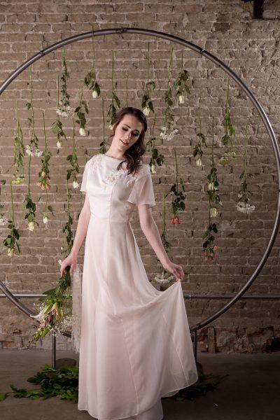 Pink Wedding Dress - Alyssa - Rachel Elizabeth Desinger Bridal Gowns