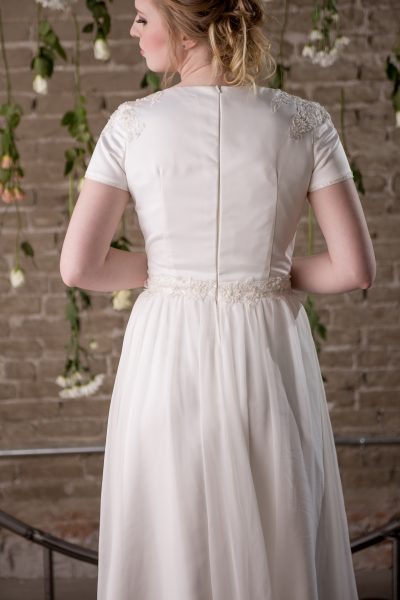 Modest Wedding Gown - Breanna - Rachel Elizabeth Designer Bridal Gowns