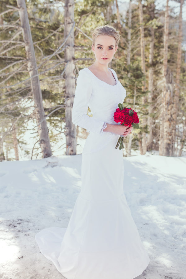 Modest Mermaid Wedding Gown - Summer - Rachel Elizabeth Desinger Bridal