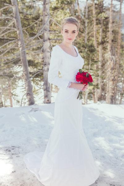 Modest Mermaid Wedding Gown - Summer - Rachel Elizabeth Deisnger Bridal
