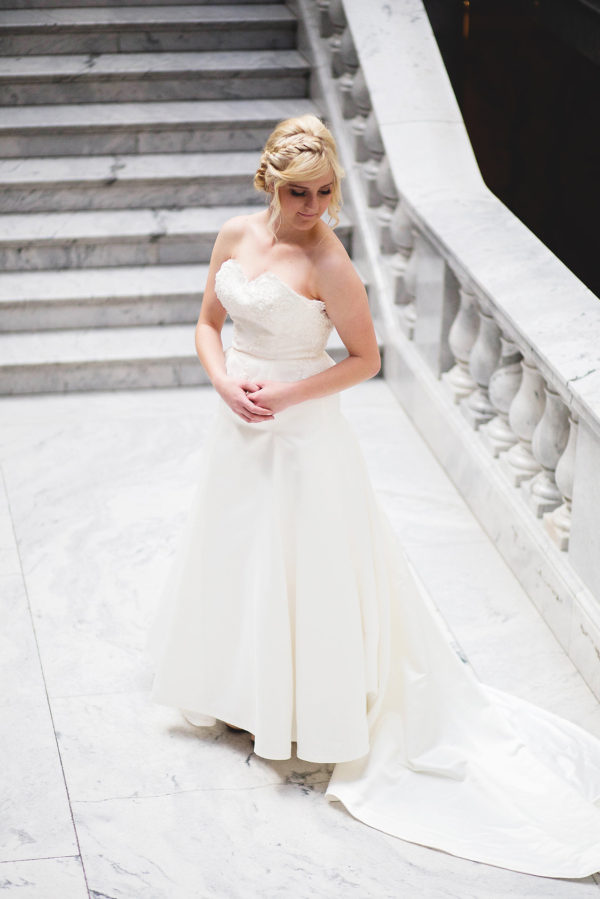 Elegant Wedding Gown - Victoria - Rachel Elizabeth Desinger Bridal Gowns